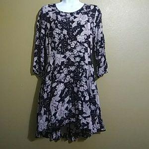Forever 21 Black & Light Pink Floral Dress.